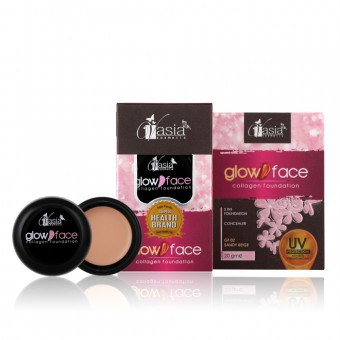 Glow Face Collagen Foundation - GF02 Sandy Beige