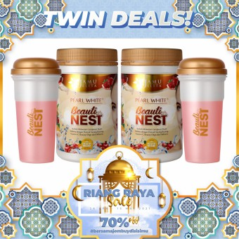 RIANG RAYA SALE! | TWIN PACK - Pearl White Beauti Nest